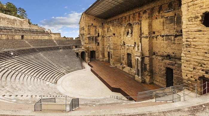 The Roman Theatre of Orange is one of France's greatest Roman structures