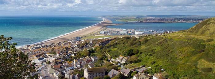Vue panoramique sur Weymouth