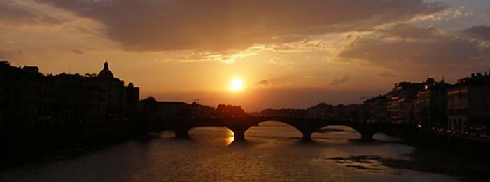 Watch the sun set over Florence