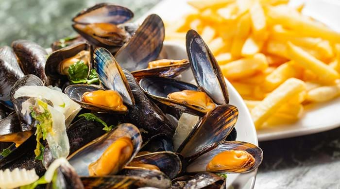Moules-frites is a Belgian speciality