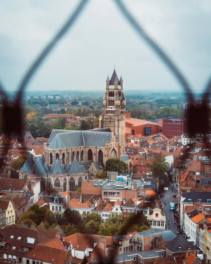 Climb the Belfry of Bruges to catch an unmissable view of the medieval city below.