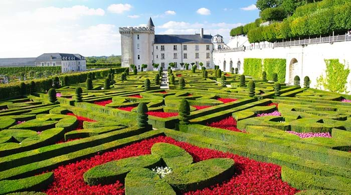 The gardens at Château de Villandry are some of the finest in France