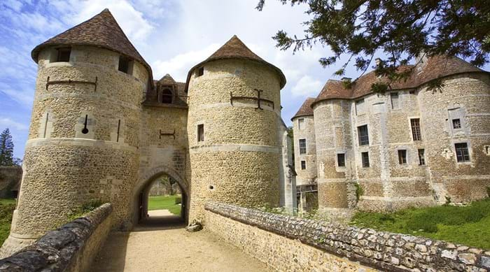 Visit the medieval fortress Château d'Harcourt, where pets are also accepted.