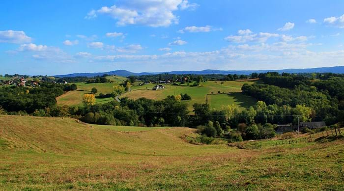 The countryside around Brive-la-Gaillarde is simply stunning