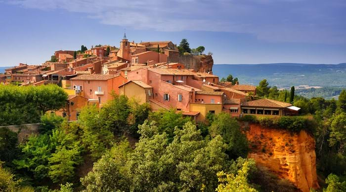 Roussillon boasts stunning red-washed buildings and a rural feel.