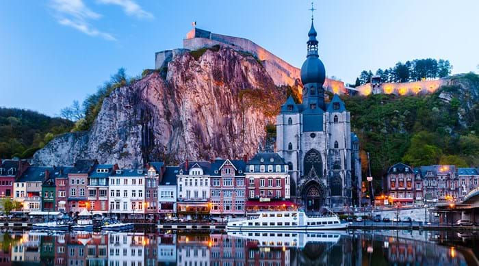 Dinant is a beautiful town encased in looming mountains. Don't miss out on the chance to journey down the rivers.