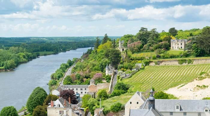 View from Chinon Castle on the valley of the Venant