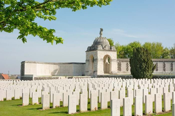 Tyne Cot Cemetery is the largest Europe's largest military cemetery.