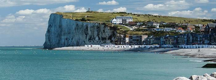 The white cliffs of Le Treport are famous for their stunning views.