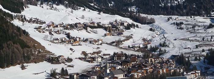 A view over the commune of Corvara.