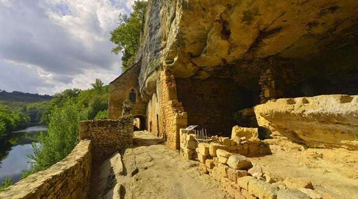 An example of France's ancient troglodyte ruins