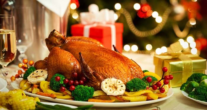 Turkey is traditionally served stuffed with chestnuts in France