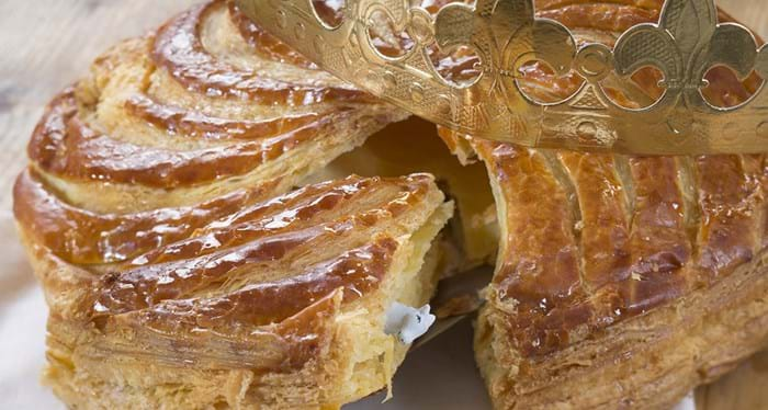 If you find the charm, or the fève in your slice of galettes des rois, you get the crown!
