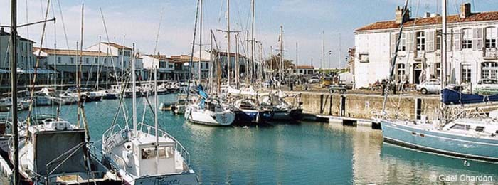 Boats in the harbour on the Ile de Ré, France