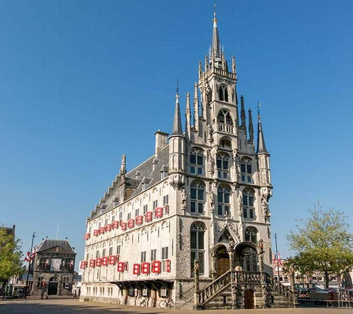 The impressive town hall is a must-see for any visitor to Gouda.