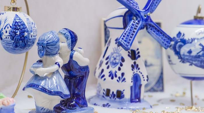 Pick up a charming souvenir from the Royal Delft shop