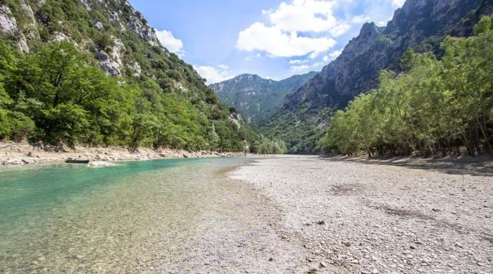 The waters running through the Gorges du Verdon are absolutely crystal clear