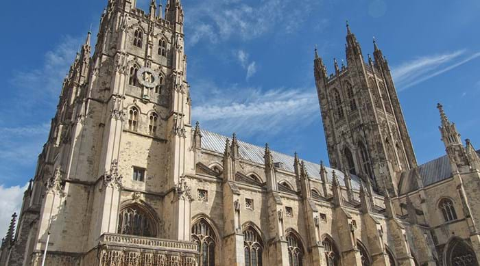 De beroemde Canterbury Cathedral in Kent