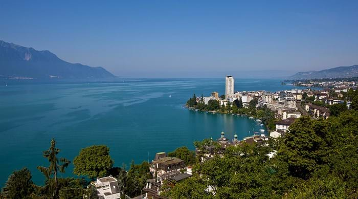 The view of Lake Geneva from Montreux