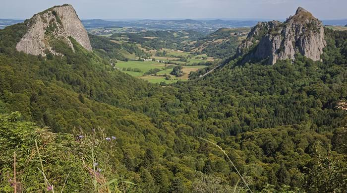 France's Auvergne Region boasts stunning rolling hills and mountains.