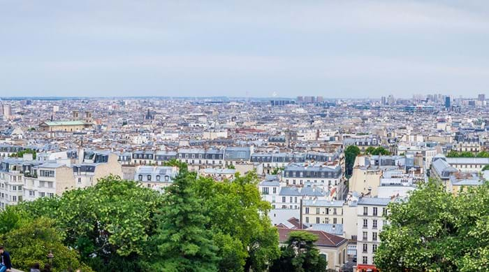 The views from Montmartre are regarded as the best in Paris.