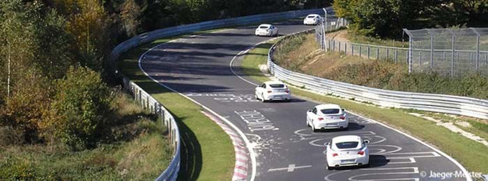 A race in progress on the Nürburgring