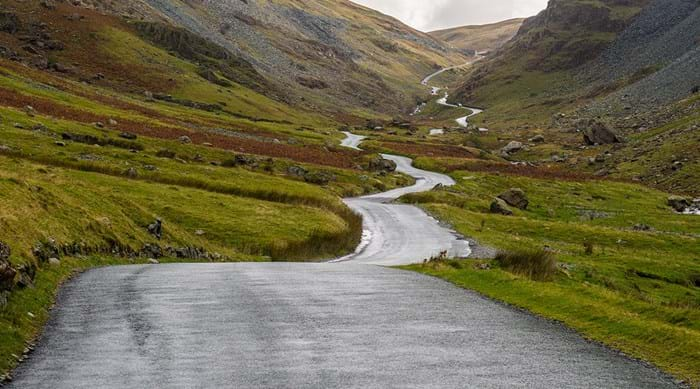 Honister Pass in het Lake District.