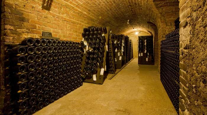 A delicious tipple of Champagne, straight from the Champagne cellars.