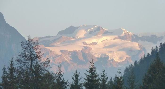 Monte Rosa – not 'pink mountain', derived from a patois word for 'glacier'