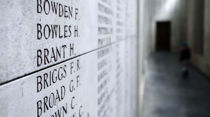 54,896 names are listed inside Menin Gate.