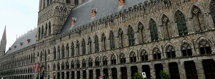 The Gothic Cloth Hall in Ypres is home to the In Flanders Fields Museum