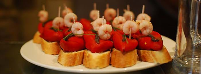 Pinchos are a delicious tapas-style dish found in the Basque Country