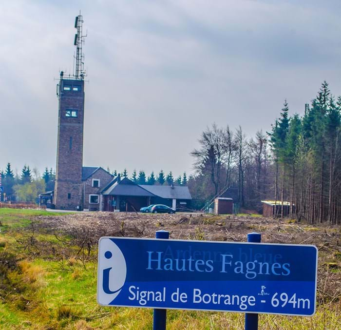 The highest point in Belgium comes complete with a tower and restaurant