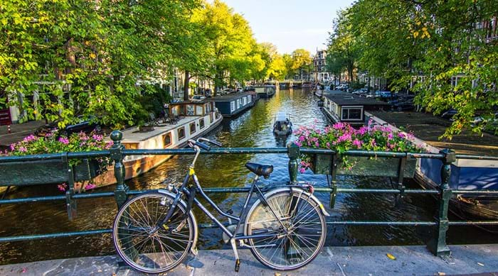 Amsterdam's historical canal district