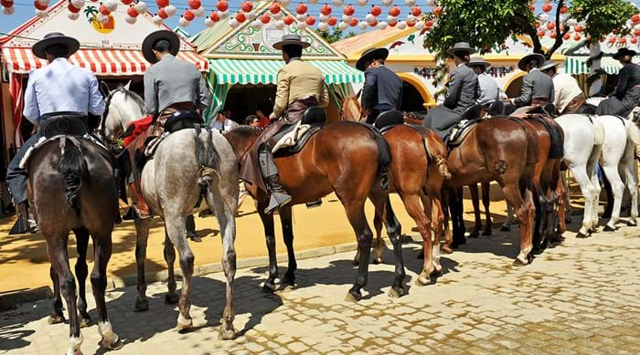 On horseback at the Seville Fair