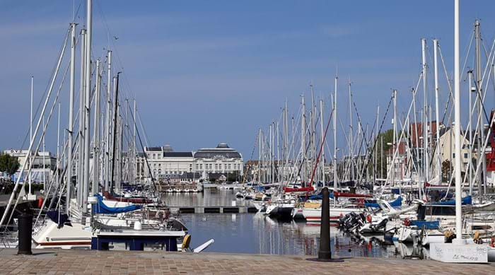 The beautiful harbour and buildings of Trouville-sur-Mer