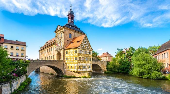 The scenic town of Bamberg