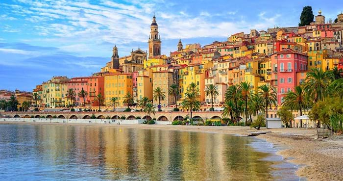 The colourful little town of Menton is as pretty as a picture