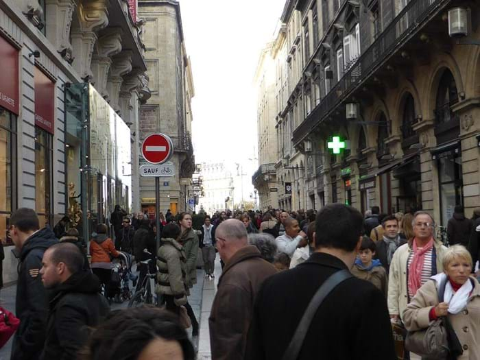 The Rue Sainte-Catherine is famous as one of the world's best shopping streets