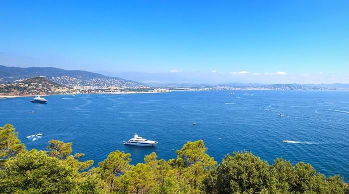 A view of Cannes Bay