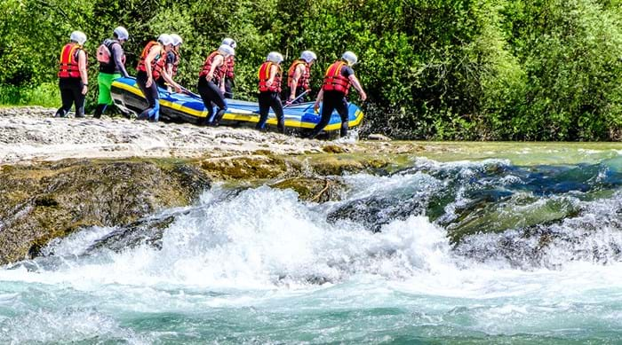 White water rafting in the Alps