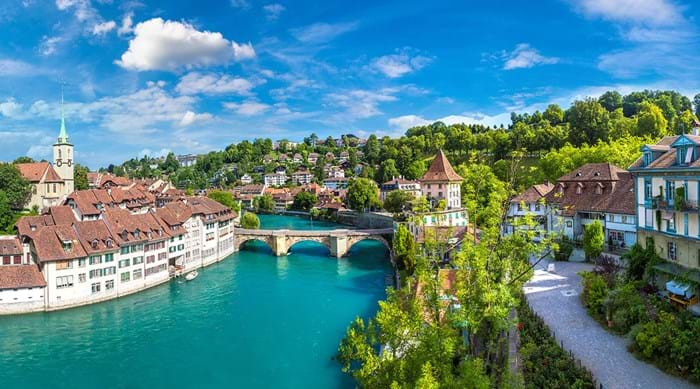 Thanks to Bern's position along Aare River, there are many beautiful views in the city.
