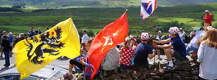 Spectators at stage one of the Tour de France 2014