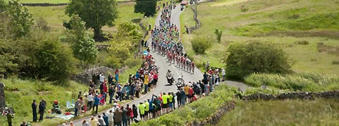 Yorkshire, England, in the Tour de France 2014
