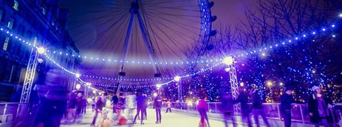La patinoire Eyeskate sous le London Eye