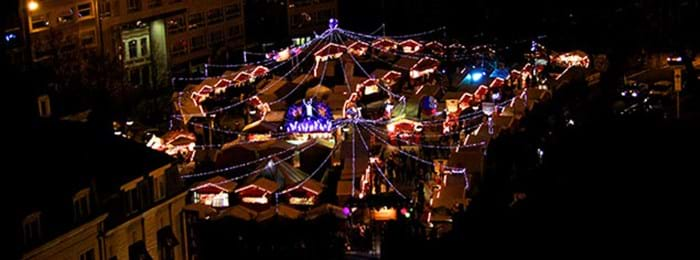 An overview of the Lille Christmas Market.