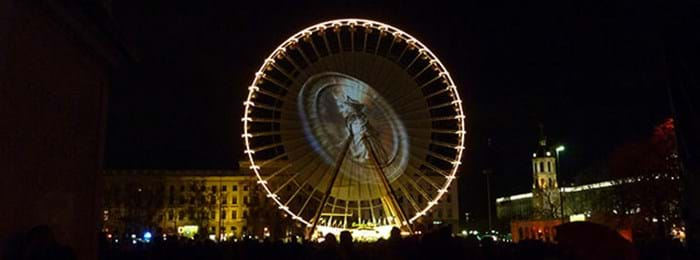 The amazing Ferris Wheel at the Fête des Lumières, Lyon