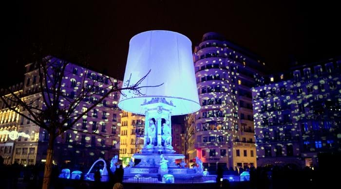 The Festival of Lights in Lyon sees amazing displays taking place across the city.
