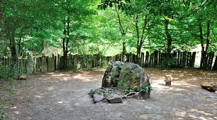 Merlin's supposed tomb in Forêt de Paimpont.